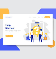 help service concept vector image