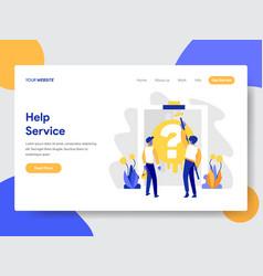 Help service concept vector