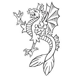 Heraldic dragon No9 vector