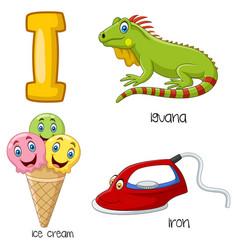 i alphabet vector image