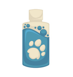 icon of pet shampoo symbol animal care vector image