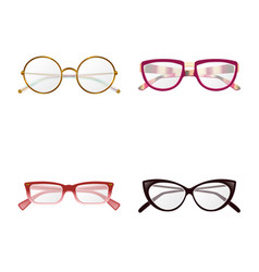 isolated object of glasses and frame logo vector image