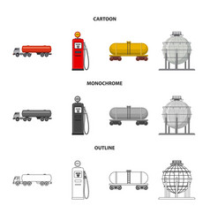 isolated object of oil and gas logo set of oil vector image