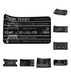 isolated object ticket and admission icon set vector image