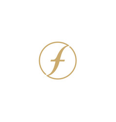 letter f logo icon design template vector image