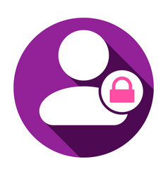 lock people user icon vector image