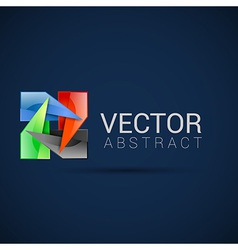 logo shape set 3d style element design abstract vector image