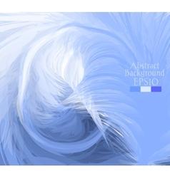 Macro feathers White blue dark blue vector