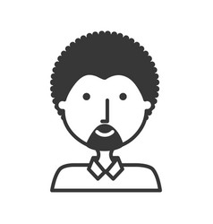 Man afro hairstyle vector
