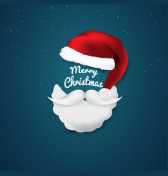 merry christmas and new year xmas background red vector image
