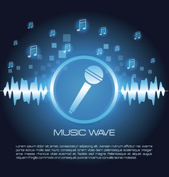 Music wave infographic vector