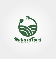 natural food logo design vector image
