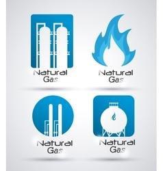 Natural gas design vector