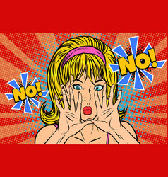 No pop art retro vintage blonde woman vector