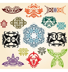 ornaments set vector image