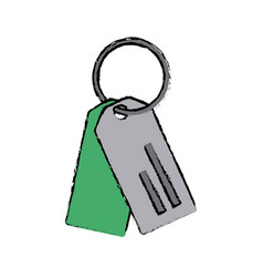 Paper tag with ring market empty icon vector