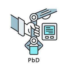 Pbd color icon programming demonstration vector