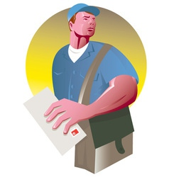 Postman mailman mail bag vector