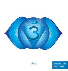 Rhird eye chakra ajna glowing chakra icon vector
