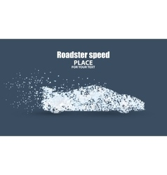 Roadster particles symbolizing speed vector
