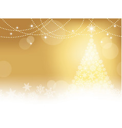 seamless winter background with christmas tree vector image