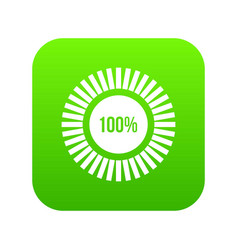 sign 100 download icon digital green vector image