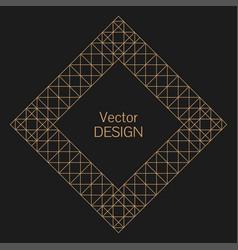 simple rhombus frame vector image