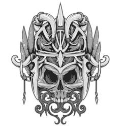 Skull mask vector image
