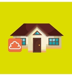 smart home with cloud isolated icon design vector image