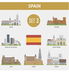 Spain cities vector