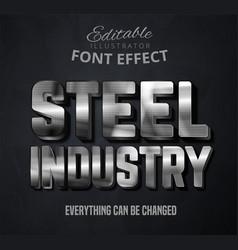 Steel industry text editable font effect vector