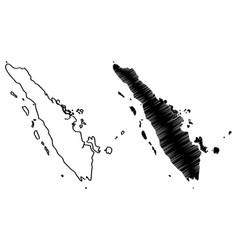 sumatra map vector image
