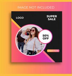 Super sale social media post templates vector