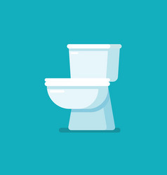 Toilet bowl in flat style vector