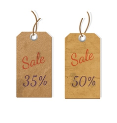 Two cardboard tags for sale vector