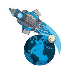 Universe space galaxy astronomy cartoon vector