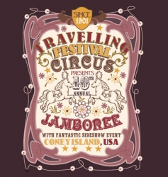 vintage circus poster vector image