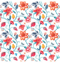 Watercolor floral pattern vector