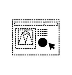 web page icon vector image
