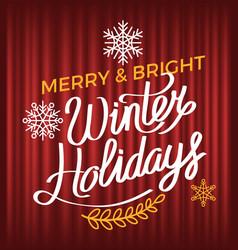 winter holiday postcard xmas poster wish vector image