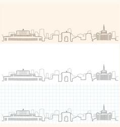 Bucharest hand drawn skyline vector