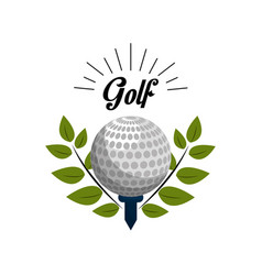emblem golf game icon vector image vector image