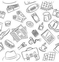 Male things pattern vector image