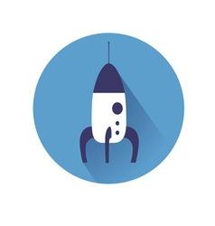 rocket symol vector image vector image