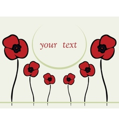 spring or summer backgrounds with poppy vector image