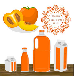 the theme persimmon vector image