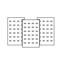 Three building the black color icon vector