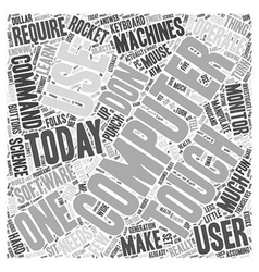 Using computers word cloud concept vector