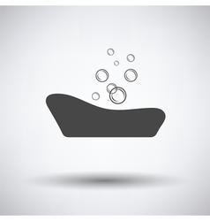 Baby bathtube icon vector image