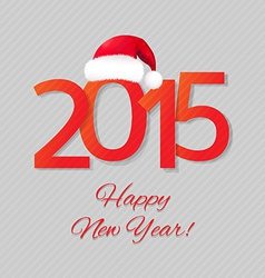 Happy New Year Card With Santa Hat vector image vector image